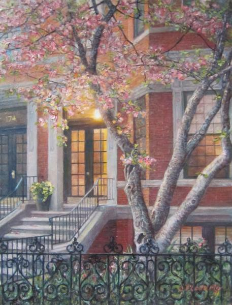 Soft Spring Morning (Back Bay), oil on panel , 9 x 12 inches   SOLD