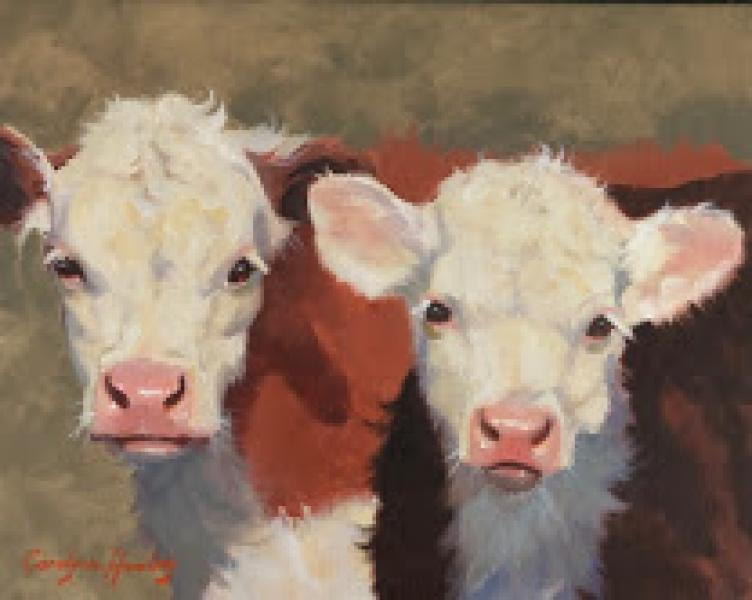 Best Buds, oil on canvas, 8 x 10 inches   SOLD