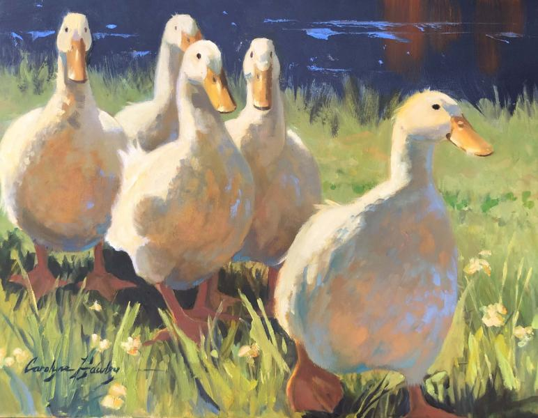 It's a Duck's Life, oil on canvas, 14 x 18 inches, $2,700