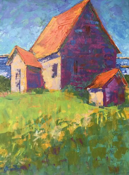 House Above Pamet, Truro, Acrylic on Canvas, 24 x 18 inches, $1,400