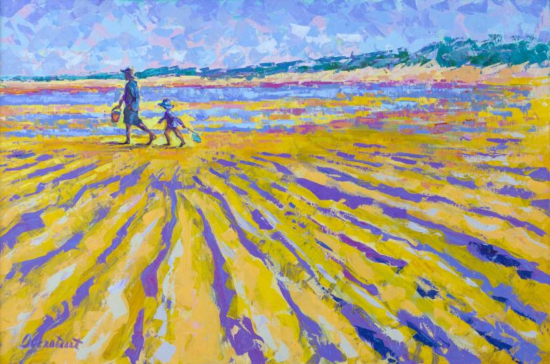 A Walk on the Flats, Brewster, Acrylic on Canvas, 24 x 36 inches, $2,500