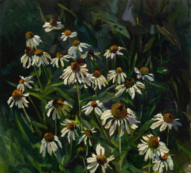 Garden Magic, oil on canvas, 18 x 20 inches, $2,800