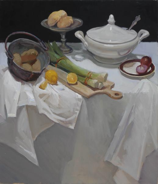 Soup Fixings, oil on canvas, 30 x 26 inches, $3,600
