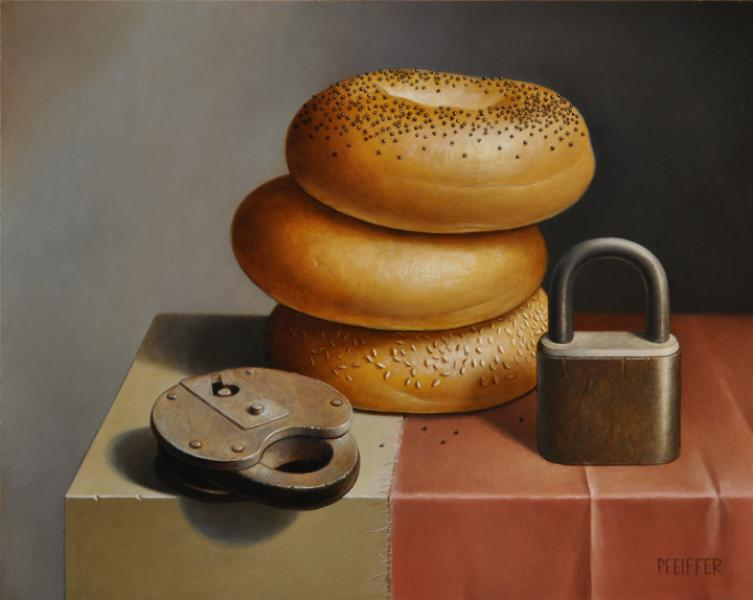Bagels and Locks, oil on panel, 8 x 10 inches   SOLD