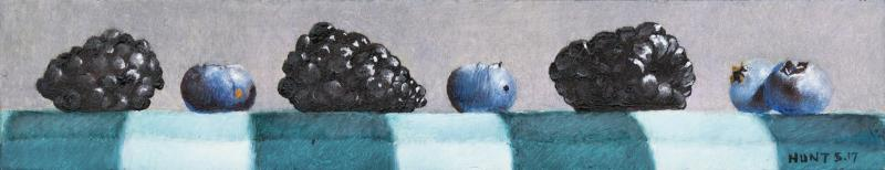I Told You They Were Bigger, oil on panel, 2 x 9 inches  SOLD