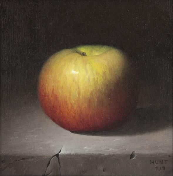 Luscious Apple, oil on panel, 7 x 7 inches  SOLD