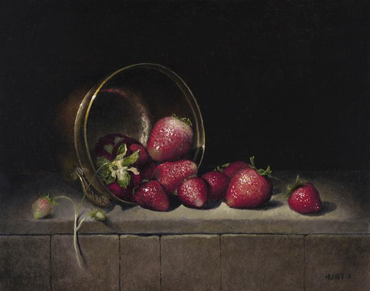 Strawberry Season, oil on panel, 10.25 x 13.25 inches, $1,800