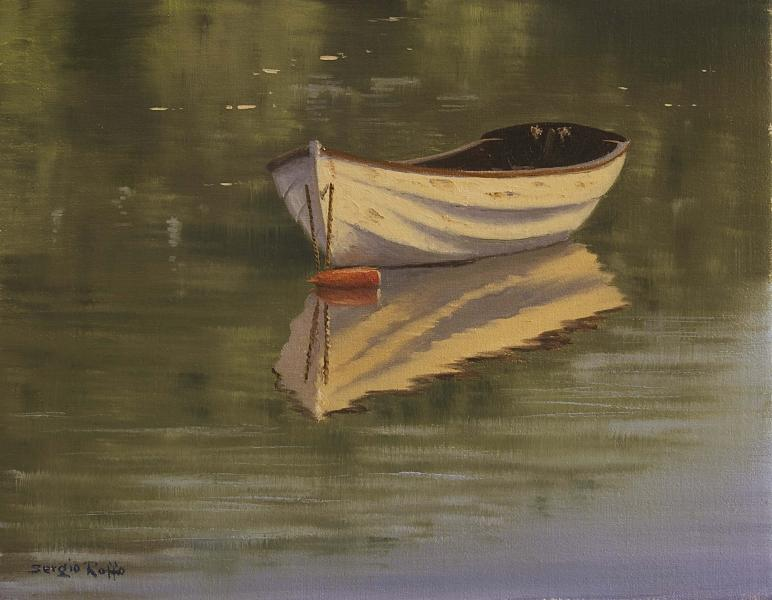 Anchored in Calmness, oil on canvas, 11 x 14 inches  SOLD