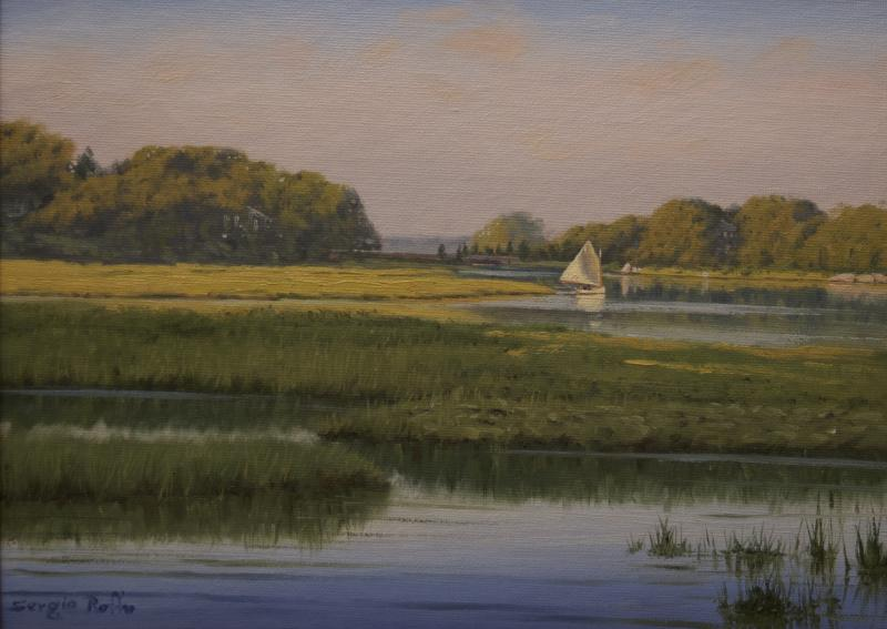 Light Across the Marsh, oil on canvas board, 9 x 12 inches  SOLD