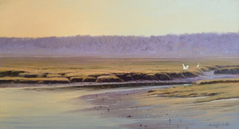 Autumn Marsh, oil on panel, 10 x 18 inches  SOLD