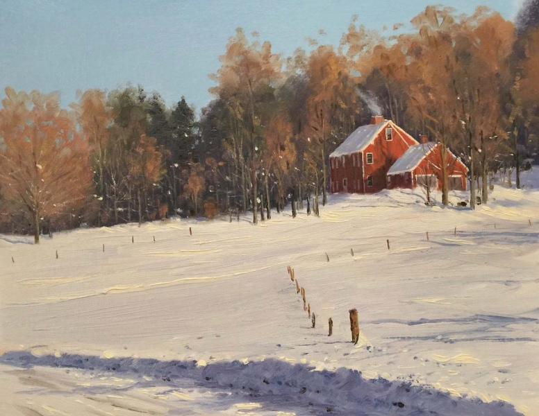 The Loop, Woodstock, Vermont, oil on canvas, 11 x 14 inches, $4,000