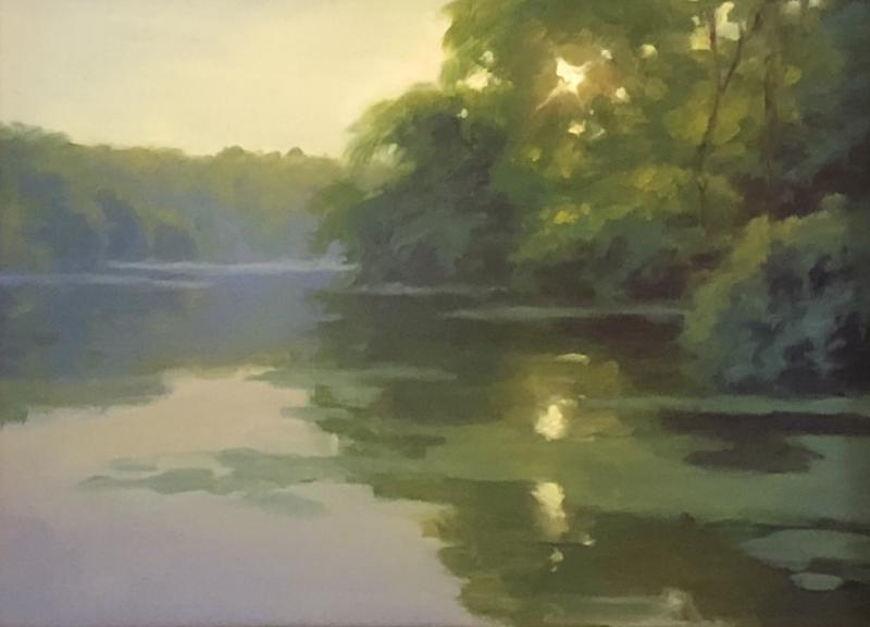 Morning Shimmer, oil on linen panel, 6 x 8 inches, $725