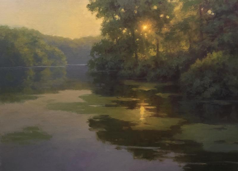 Morning Serenity, oil on linen, 18 x 24 inches, $3,200