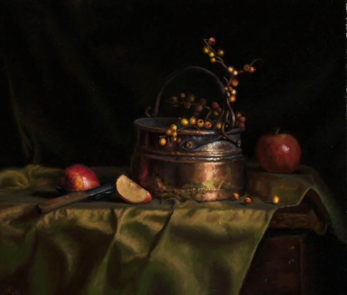 Taylor susanne copper apples 19x22