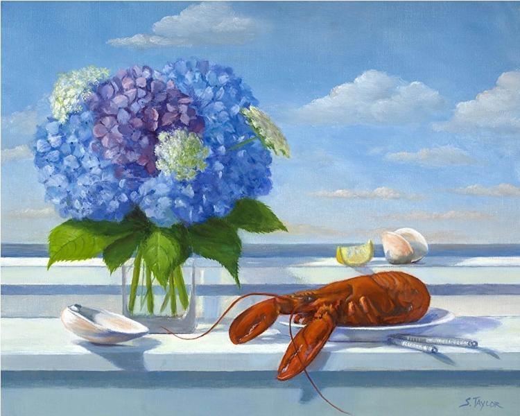 Summer Lobster, oil on canvas, 16 x 20 inches, $1,800