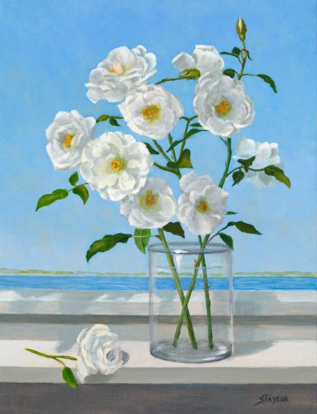 Summer Roses, oil on canvas, 16 x 12 inches, $$ Please Inquire