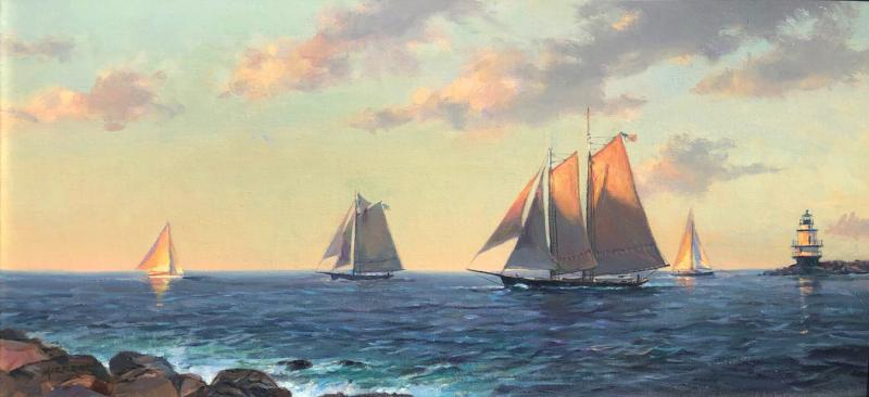 Sea Odyssey, oil on canvas, 12 x 24 inches, $3,200