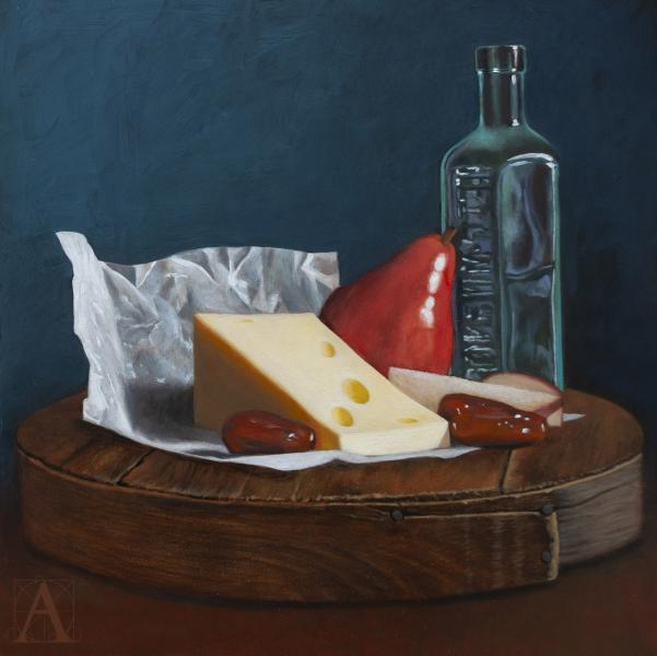 Dessert, oil on panel, 12 x 12 inches, $1,125