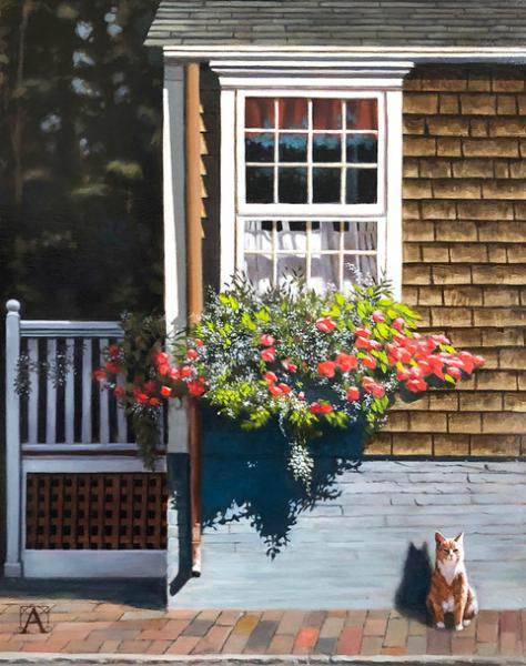 Nantucket Ginger, oil on panel, 14 x 11 inches  SOLD