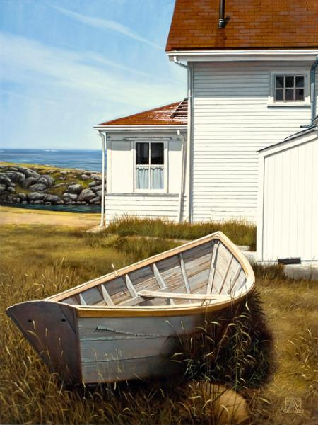 Summer, Monhegan, oil on canvas, 36 x 26 inches  SOLD