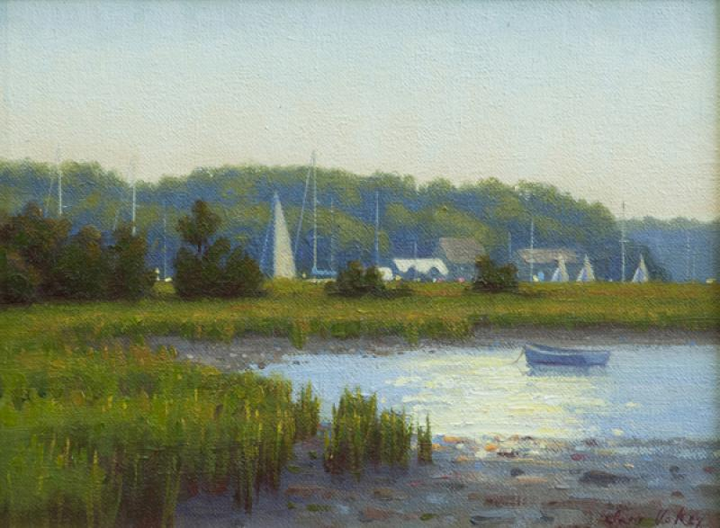 The Harbor Beyond, oil on linen, 9 x 12 inches, $1,450
