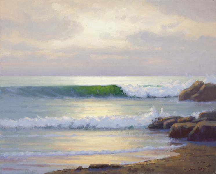 Light on the Water, oil on linen, 16 x 20 inches  SOLD