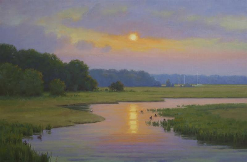 Low Summer Sun, oil on linen, 20 x 30 inches  SOLD