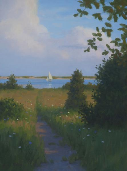 Secret Path, oil on linen, 16 x 12 inches, $2,950