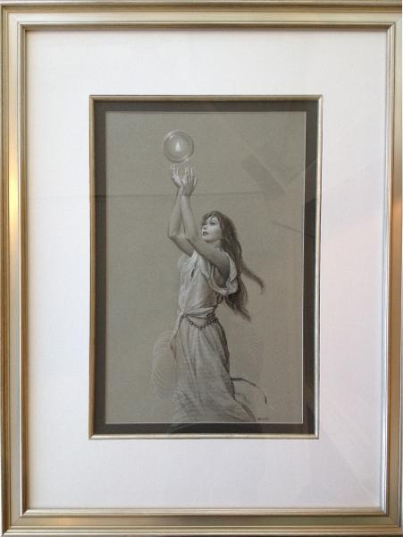 Letting Go, charcoal, 20.5 x 13 inches  SOLD