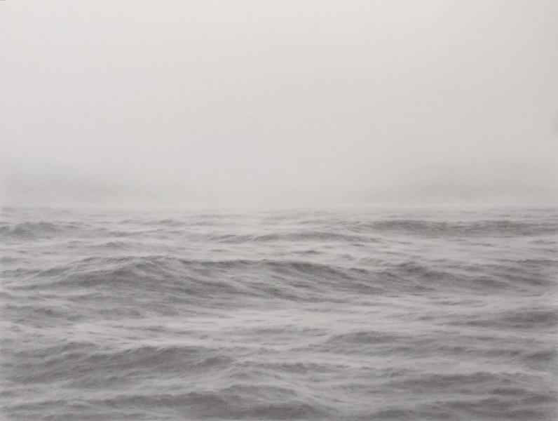 Open Ocean XXVII, graphite on paper, 27 x 18 inches  SOLD