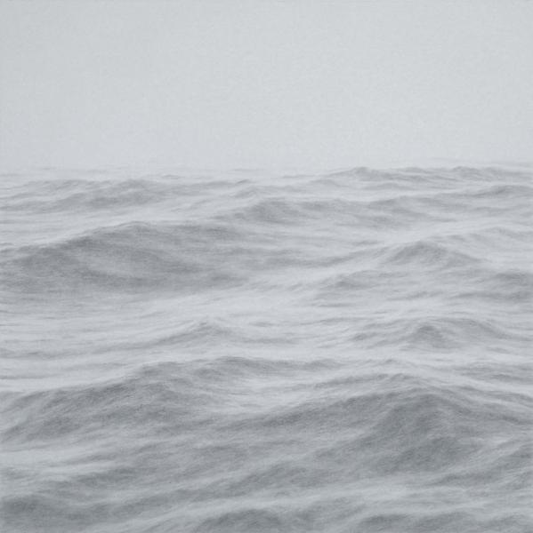 The High Seas, graphite on paper, 20 x 20 inxhes, $4,400
