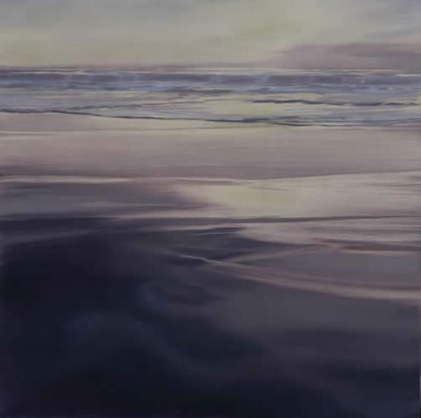 Into the Light II, oil on white gold leaf on panel, 16 x 16 inches  SOLD