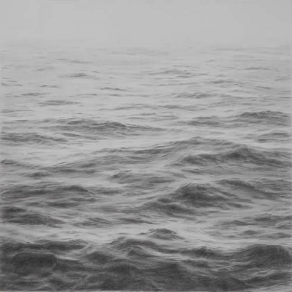 Open Ocean I, graphite on paper, 16 x 16 inches  SOLD
