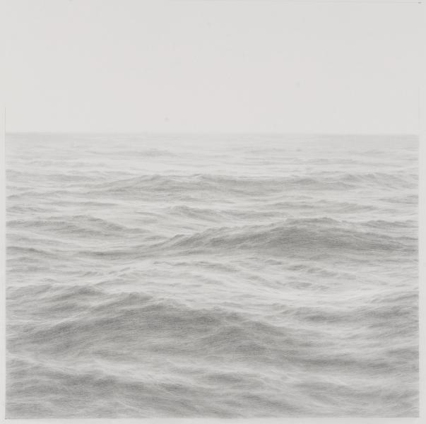 Open Ocean XX, graphite on paper, 16 x 16 inches  SOLD