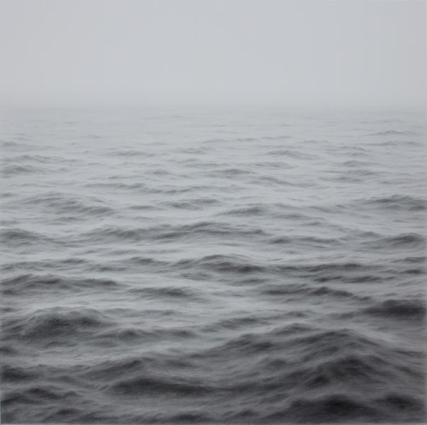 Open Ocean XI, graphite on paper, 30 x 30 inches  SOLD