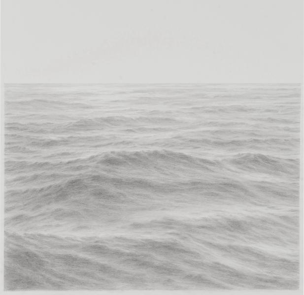 Open Ocean XIX, graphite on paper, 16 x 16 inches  SOLD