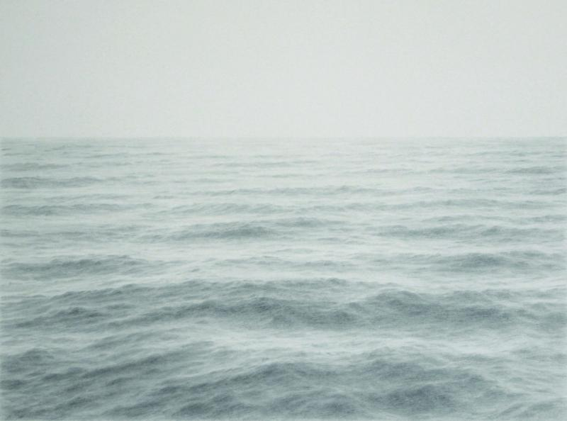 Open Ocean XXI, graphite on paper, 20 x 28 inches  SOLD