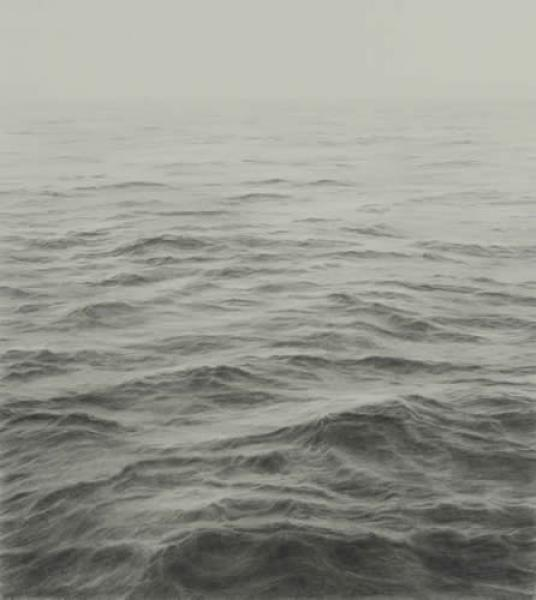 Open Ocean V, graphite on paper, 16 x 16 inches  SOLD