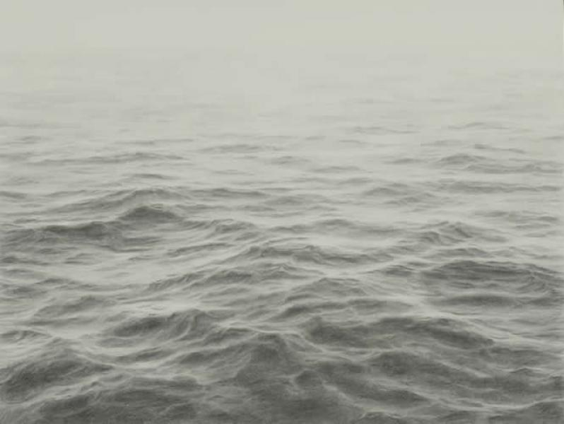Open Ocean VI, graphite on paper, 16 x 16 inches  SOLD
