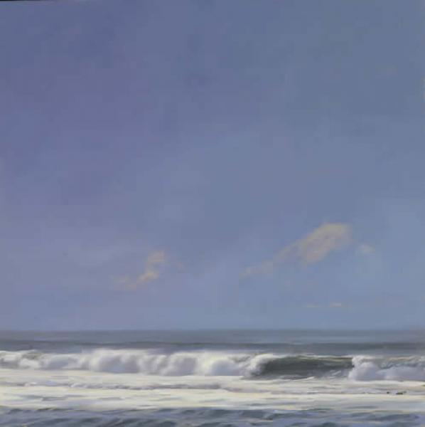 Perfect Day, oil on white gold leaf on panel, 16 x 16 inches  SOLD