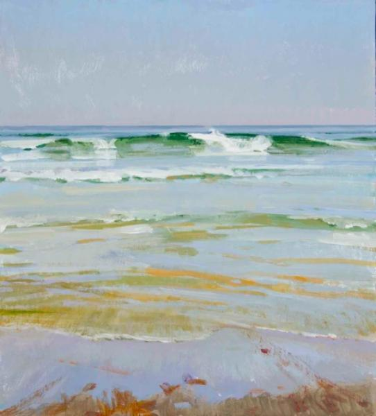 Slack Tide, Haze , acrylic on panel, 20 x 18 inches   SOLD