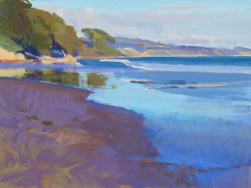 Spring, Low Tide, acrylic on panel, 12 x 16 inches, $2,250