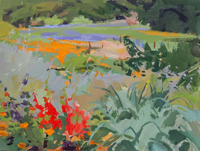 Native Garden, acrylic on panel, 12 x 16 inches, $1,700