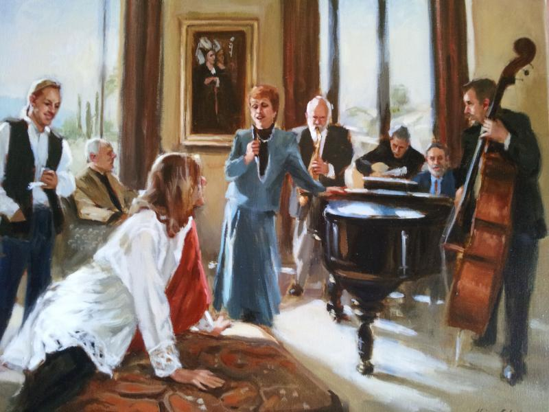 Afternoon Concerto , oil on linen, 18 x 24 inches   SOLD