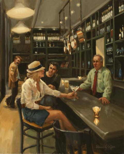 Martini Matinee, oil on linen, 20 x 16 inches  SOLD