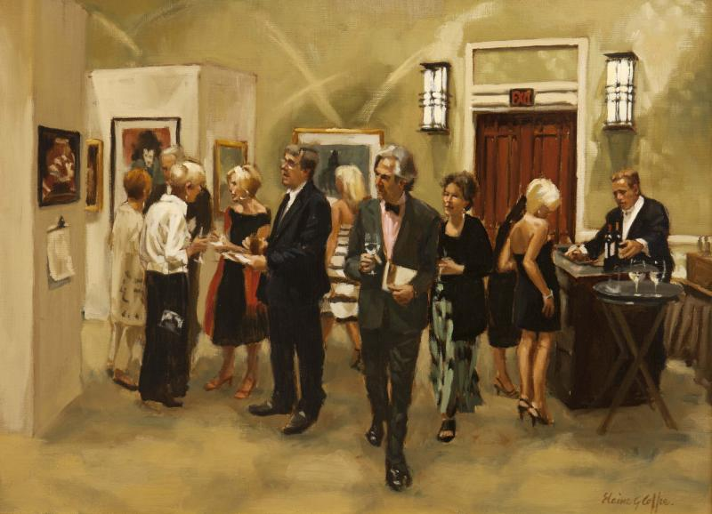 Charity Gala, oil on linen, 16 x 12 inches, $3,900