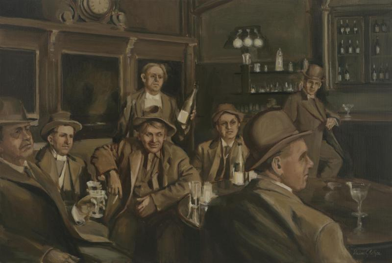 Prohibition on its Way, oil on linen, 24 x 36 inches, $9,800