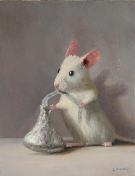 Addicted, oil on panel, 5 x 4 inches  SOLD