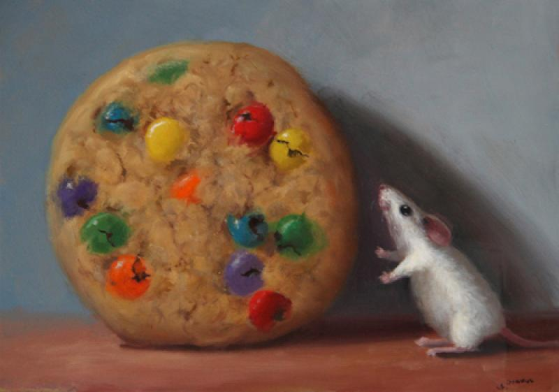 All Mine, oil on panel, 5 x 7 inches  SOLD