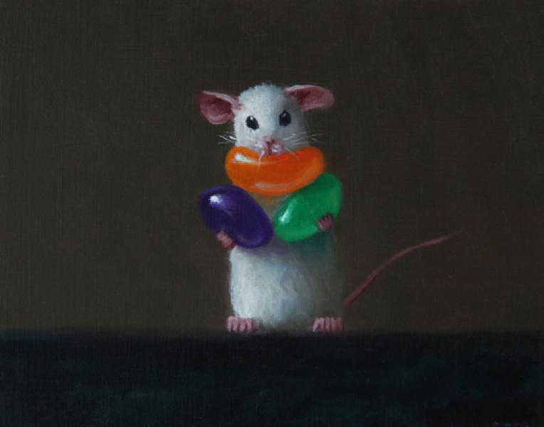 All You Can Eat, oil on panel, 4 x 5 inches, $600